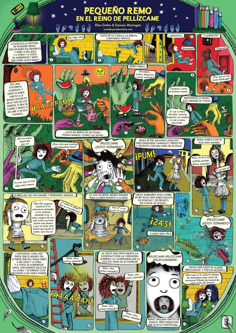 Póster Pequeño Remo en el Reino de Pellízcame, incluido en ¡Pellízcame!, de Ellen Duthie y Daniela Martagón