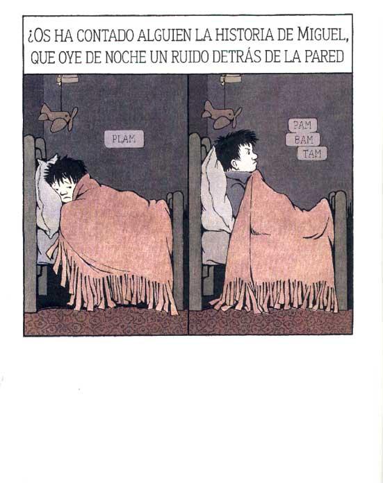 Comienzo de  La cocina de noche , de Maurice Sendak. (Kalandraka, 2014)