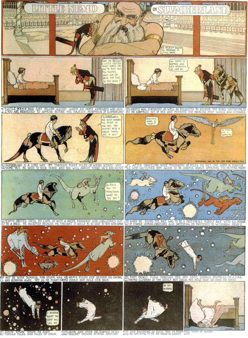 First ever  Little Nemo in Slumberland  comic strip by Winsor McCay published in the New York Herald on October 15th, 2015