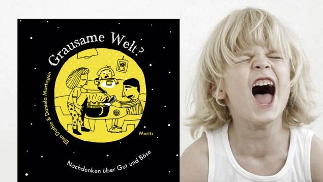 Lejos del típico libro de lecturas para niños:  Mundo cruel , de Ellen Duthie y Daniela Martagón, enfoca el tema de forma lúdica. (Moritz Verlag / imago / Westend61)
