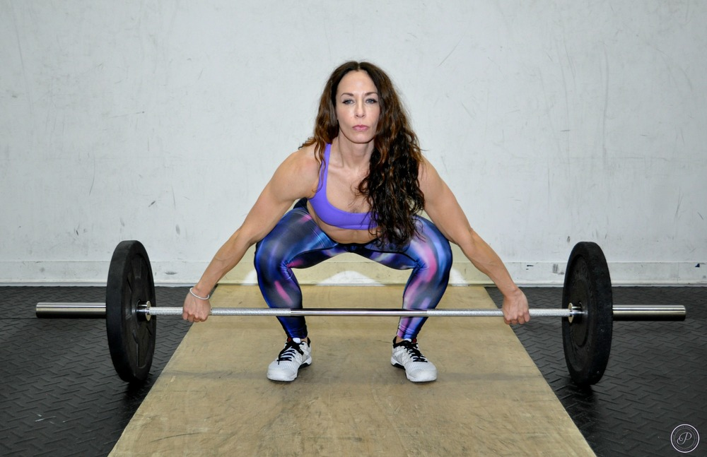 """Amy 'Pistol' Mandelbaum & Her Barbell"", at SISU Elite Fitness, 2015                                                                                                                                      Makeup by Kemery Sisam"
