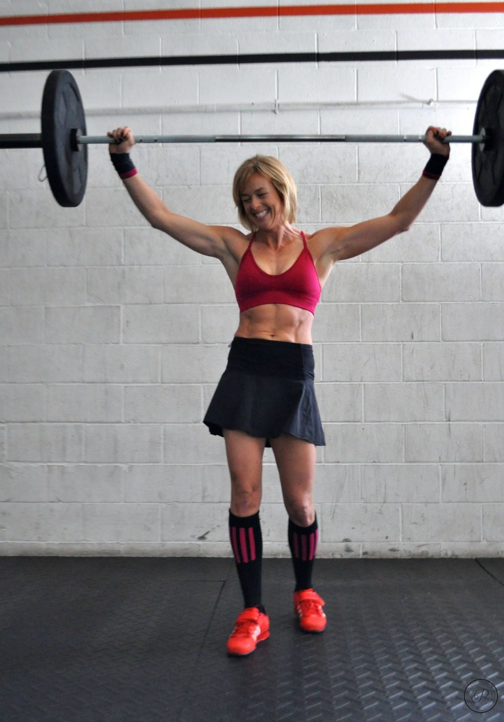 """Barbell Charmer"", Lori Aleks-Rico at SISU Elite Fitness, 2015"
