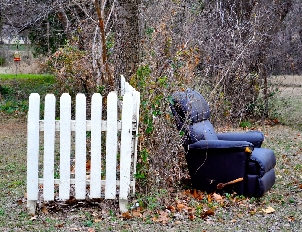 """Picket Fence and Recliner"", Norman, OK, 2015"