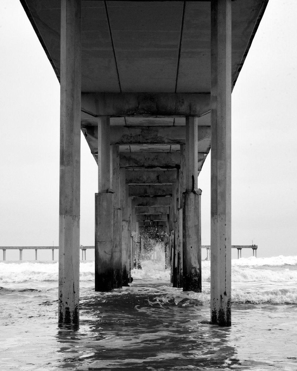 """Under the Boardwalk"" Ocean Beach Municipal Pier, 2017"
