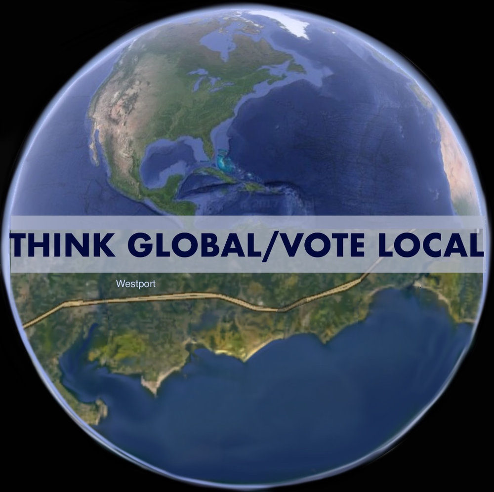 Democratic Town Committee Art Shows - 2017: Think Global/Vote Local2016: Bring on the Blue