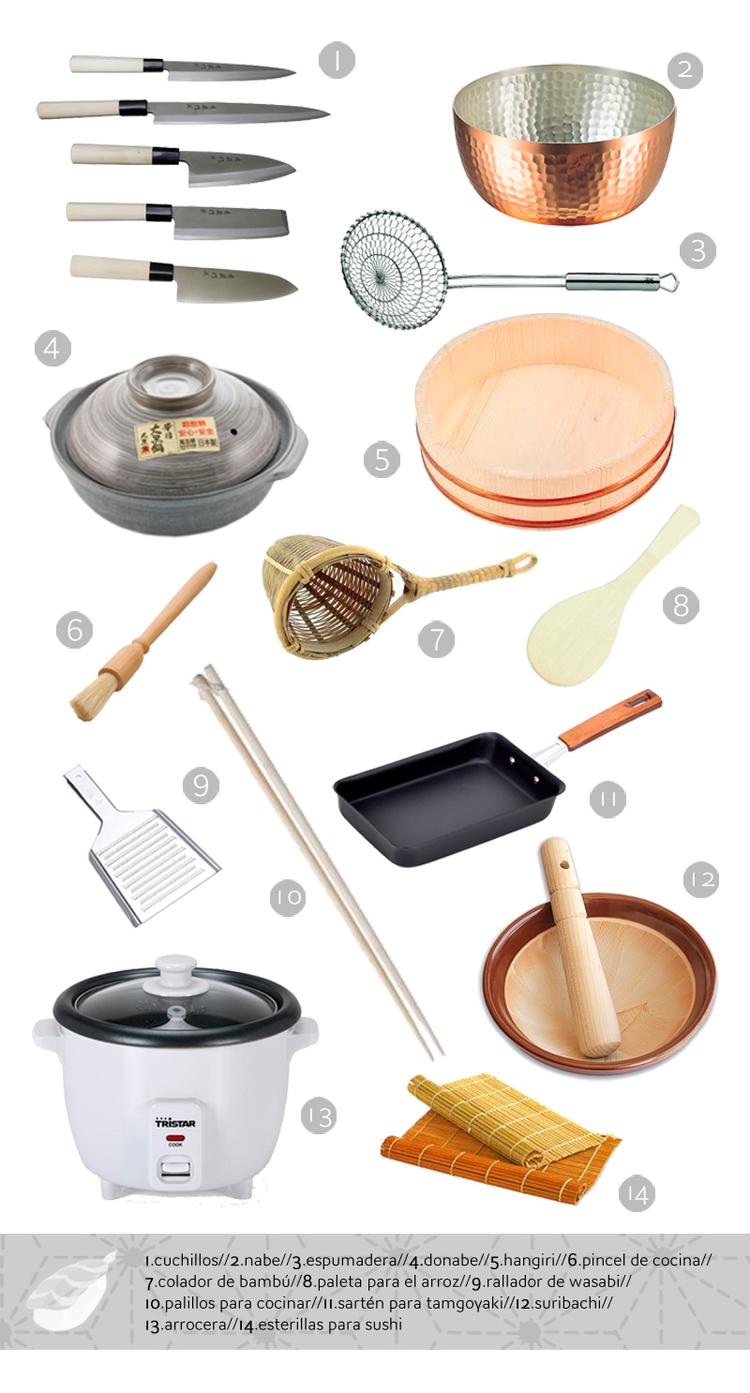 Cocina japonesa para principiantes. Utensilios básicos ...