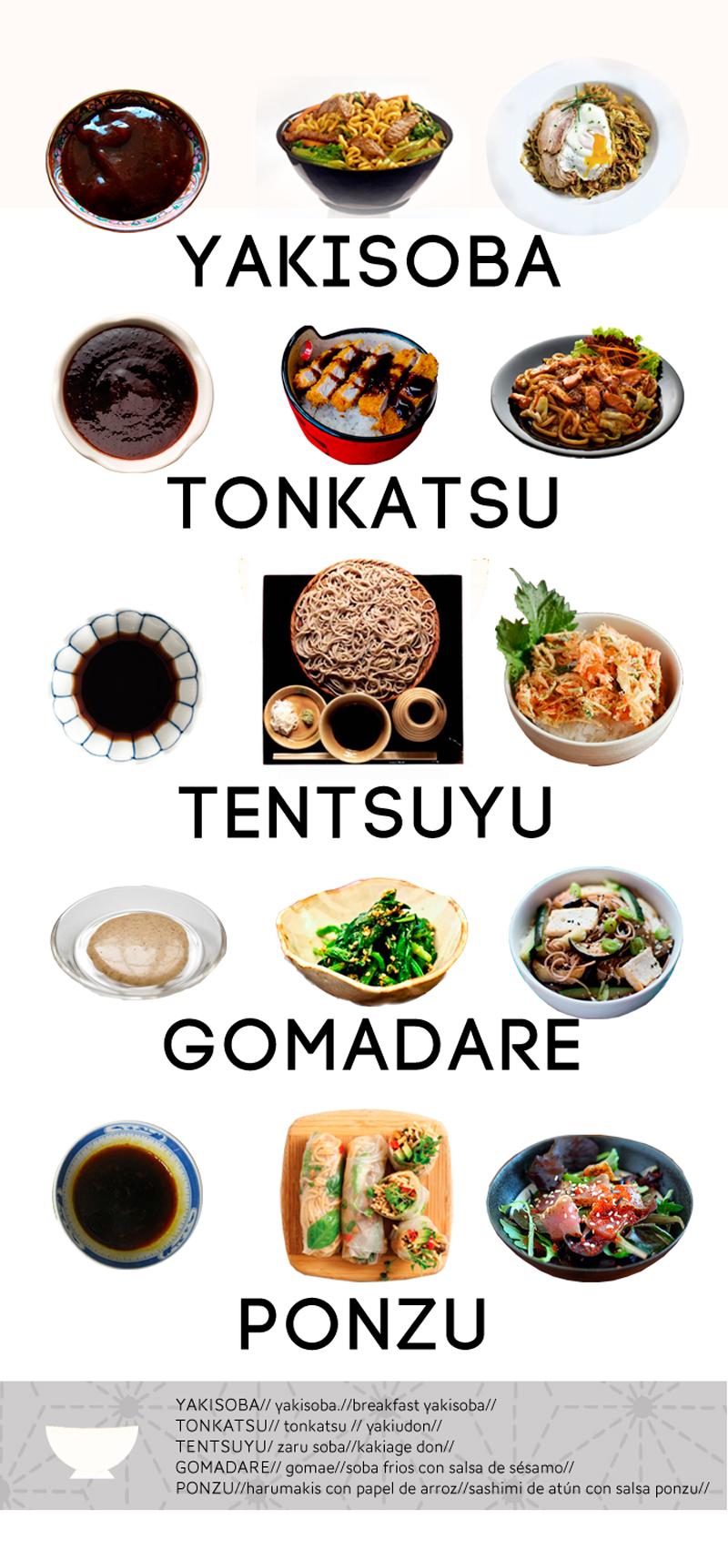 cocina japonesa para principiantes variedades de salsas