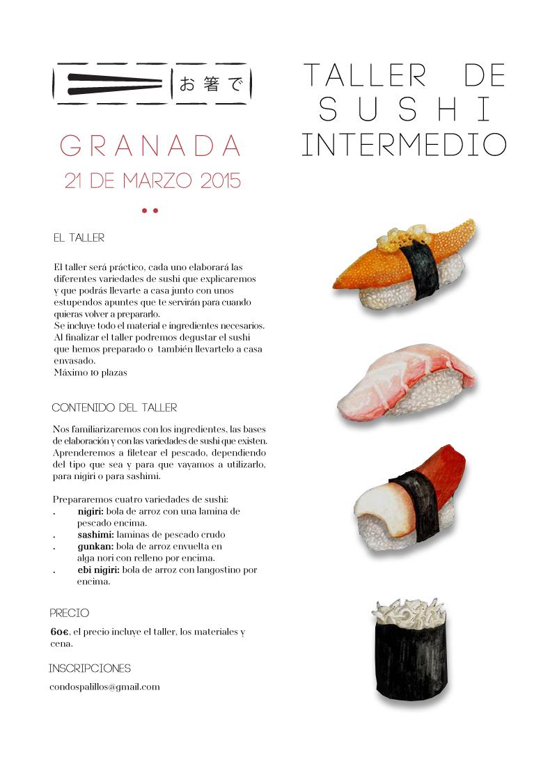 curso de sushi intermedio en granada