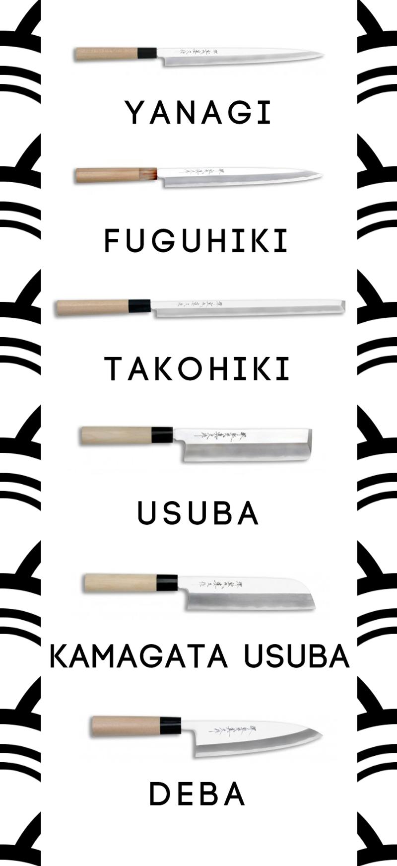 Tipos de cuchillos japoneses y sus usos condospalillos for Tipos de manga japones