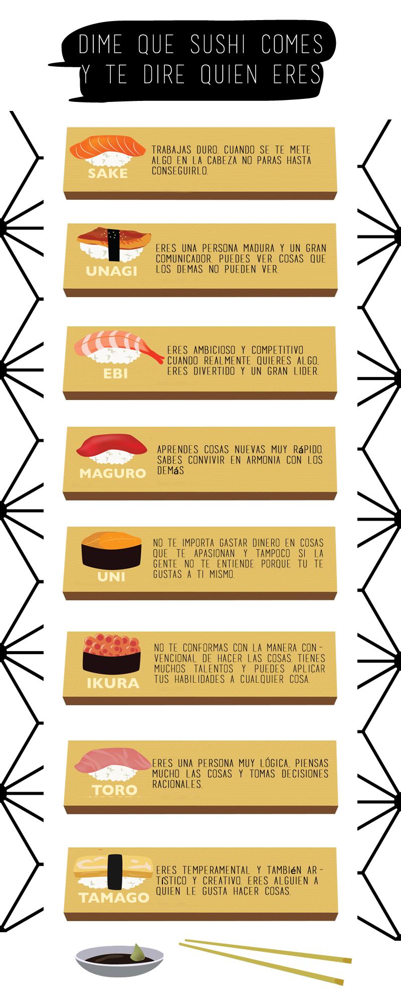 sushi y personalidad