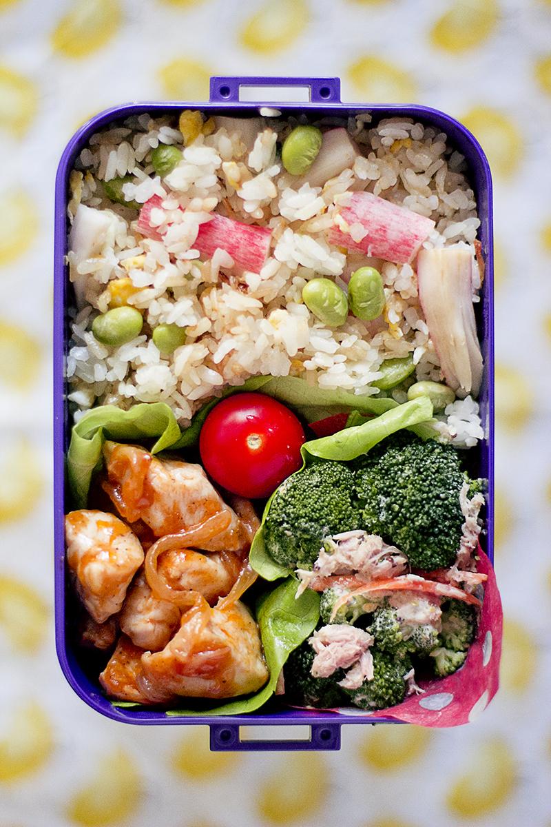 bento arroz frito japonés