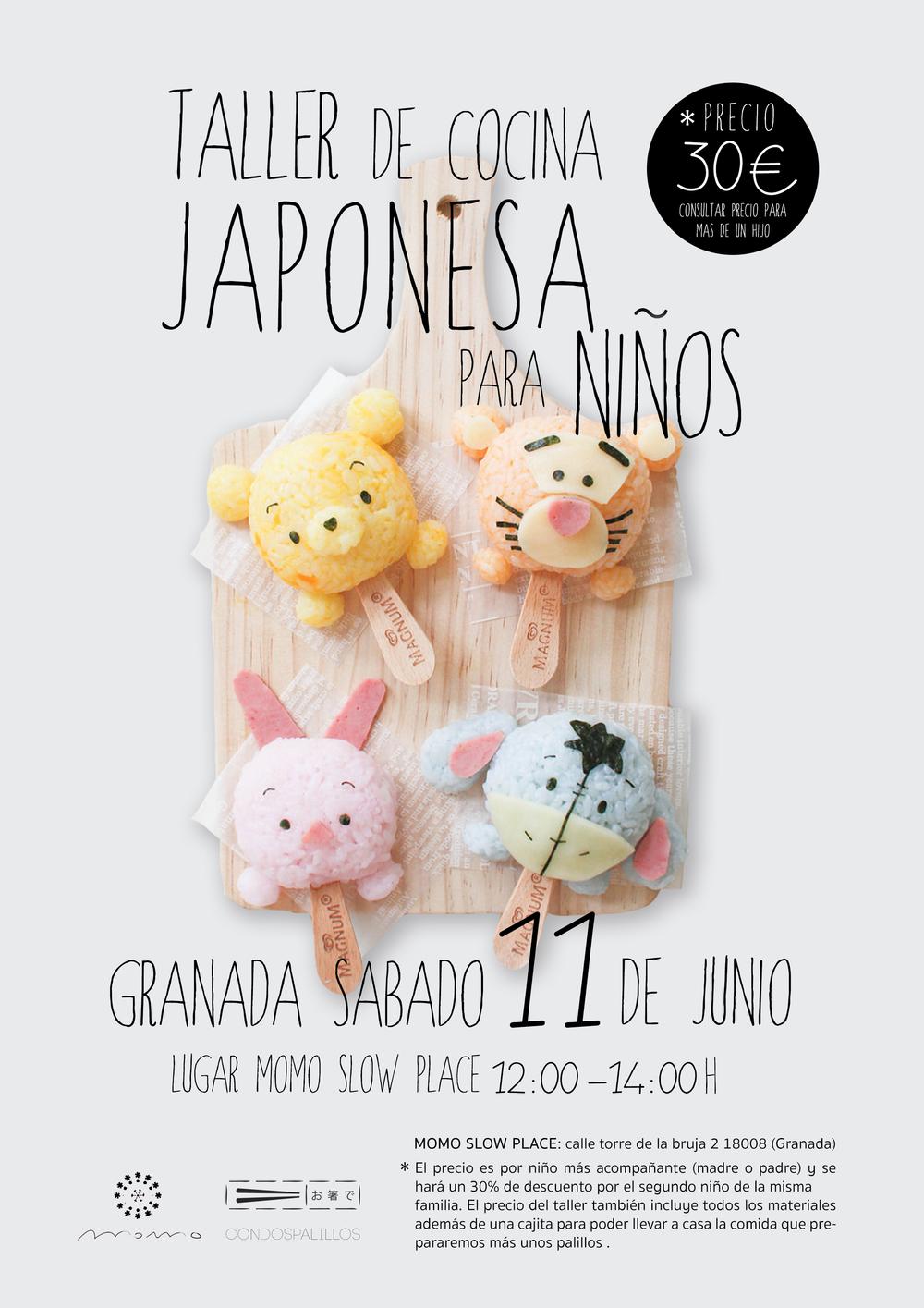 taller cocina japonesa para niños en granada