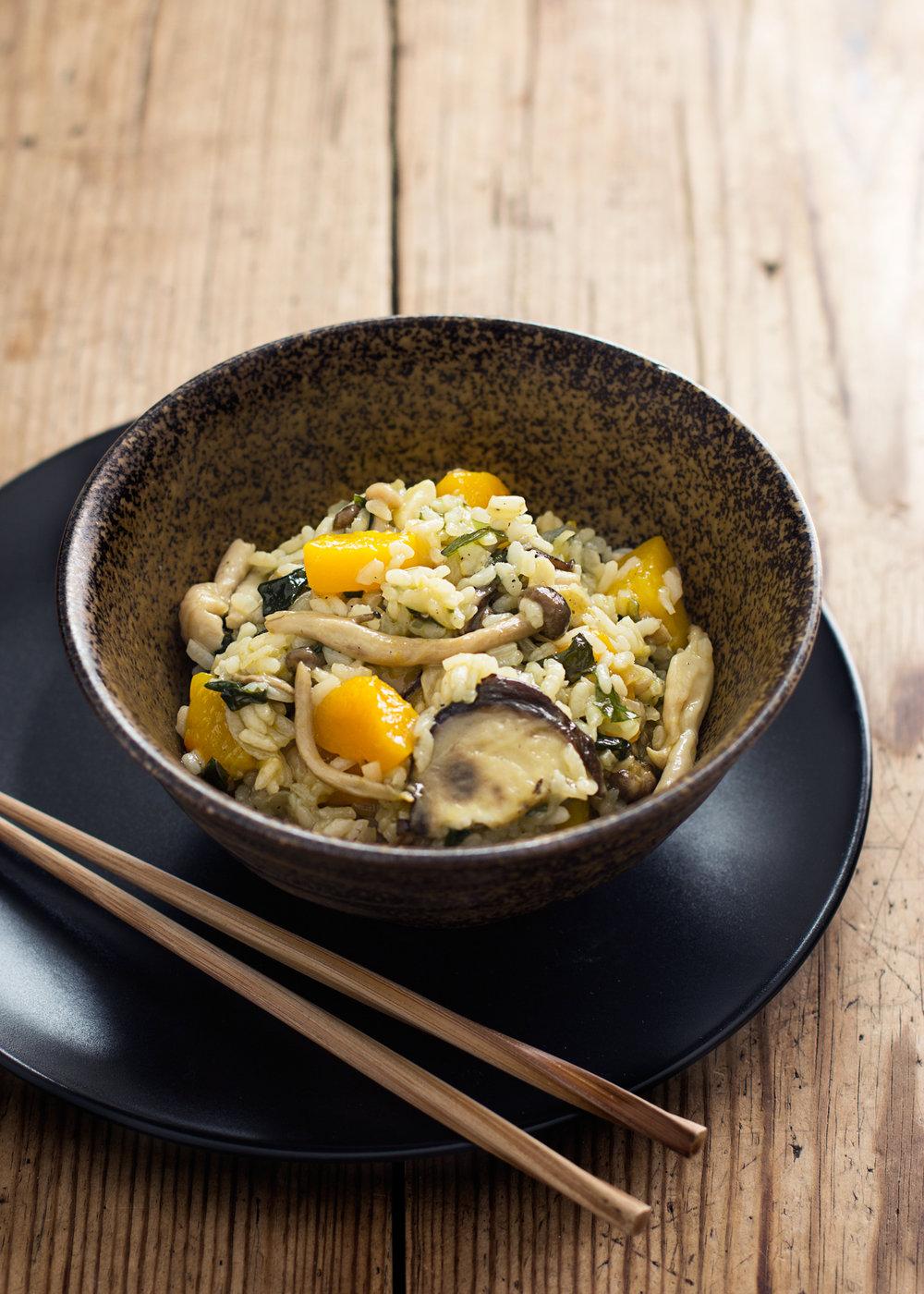 arroz japones de otoño