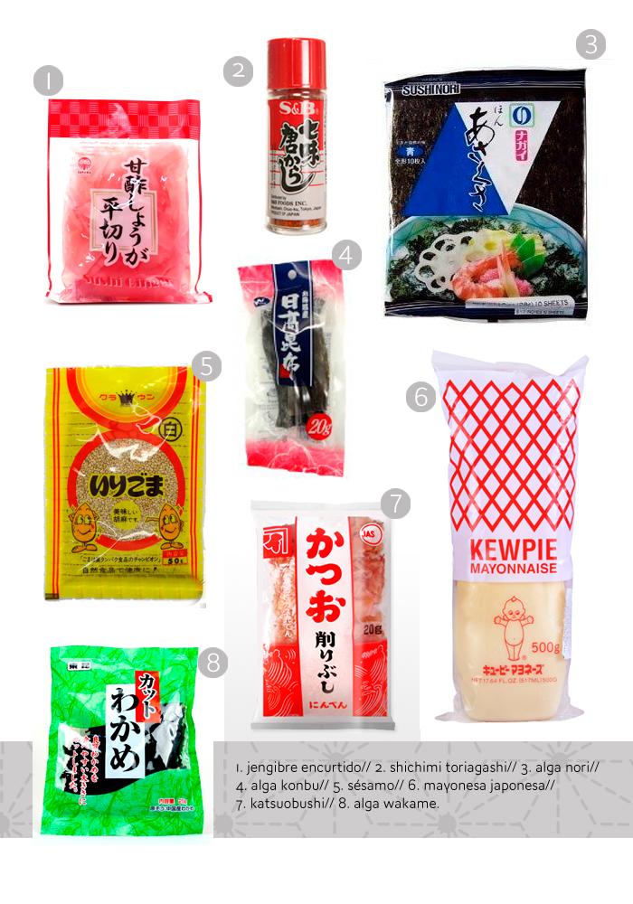 ingredientes básicos japoneses
