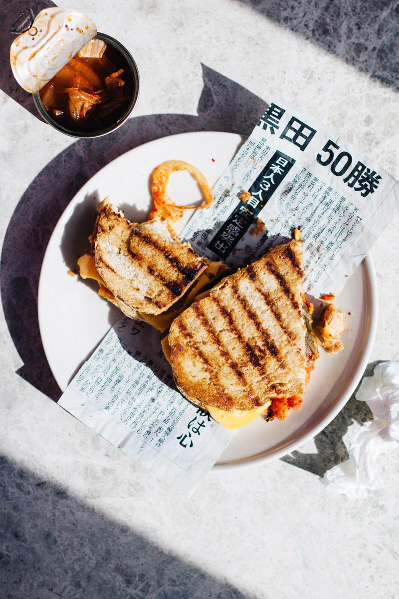 sandwich de kimchi y queso