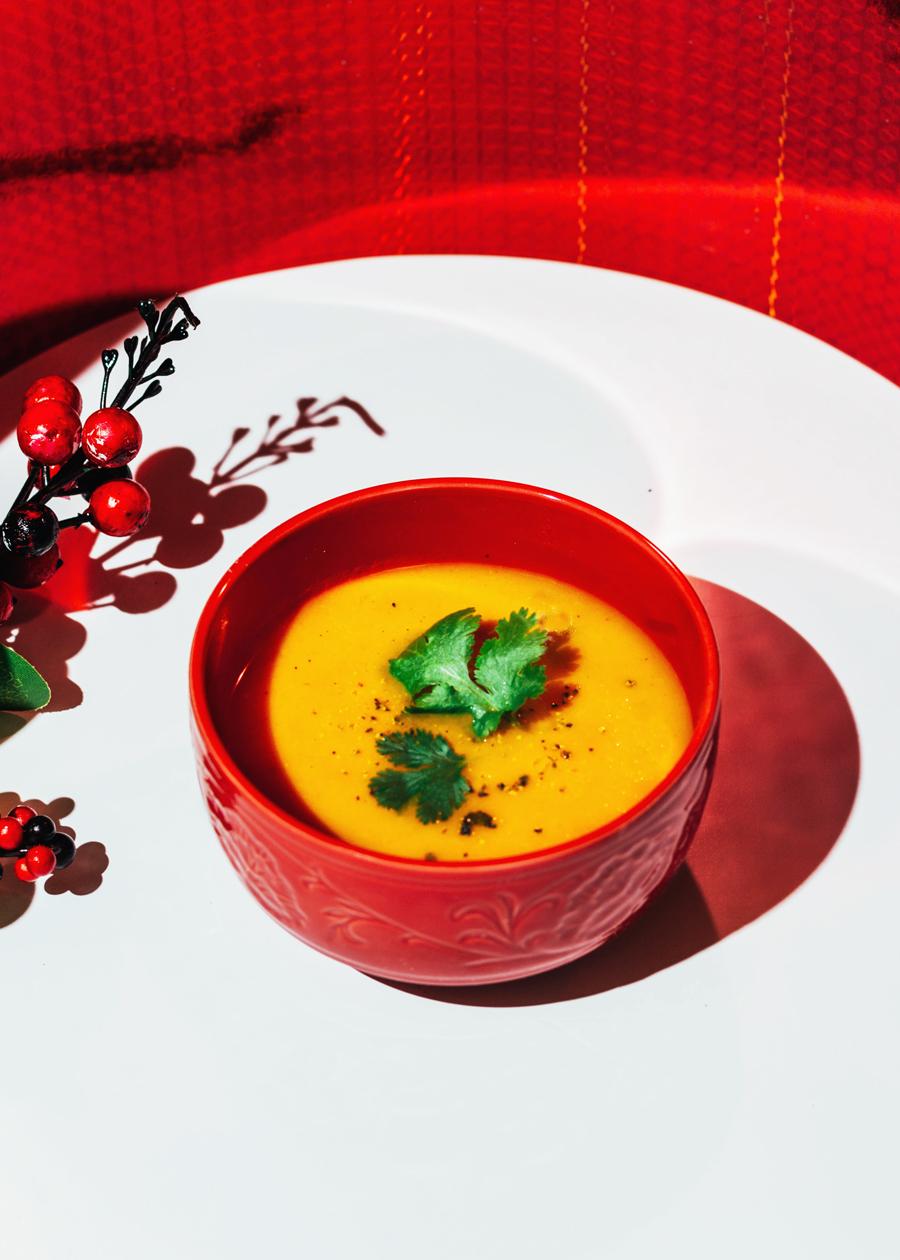 crema tailandesa de tomate y zanhoria