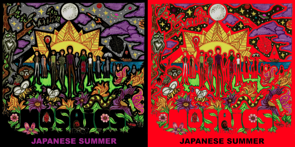 Artist Vinny Michaud Illustration & Design Mosaics Album Cover Japanese Summer Artist Vincent Michaud Art