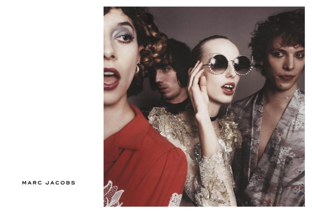 Vinny Michaud stars in the Marc Jacobs spring 2016 campaign alongside Lili Sumner, Oliver Burslem & Tracy Antonopoulos