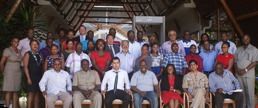Locus Economica CEO Jean-Paul Gauthier with Kenyan Members of Parliament and other government officials at a retreat in Mombasa to discuss the new SEZ Bill from April 9-11, 2015.  Image courtesy of the  Kenya Private Sector Alliance