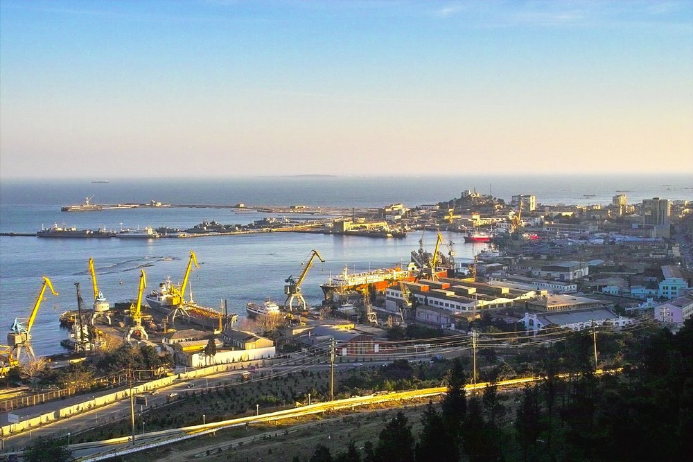 The current Baku Port, Azerbaijan
