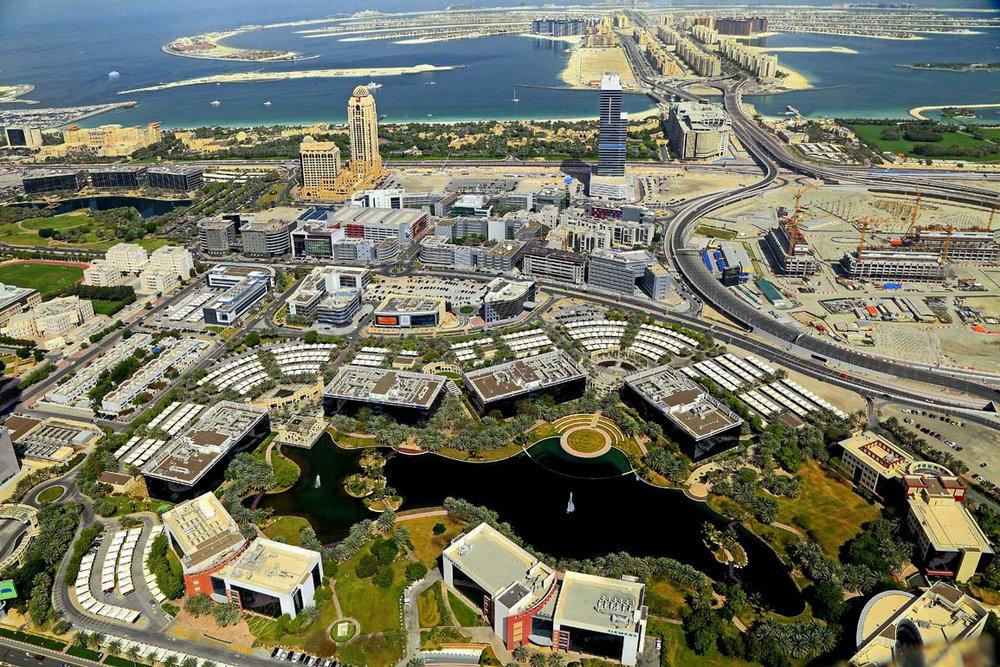 The Dubai Media City. Image Courtesy of the  TECOM Group .