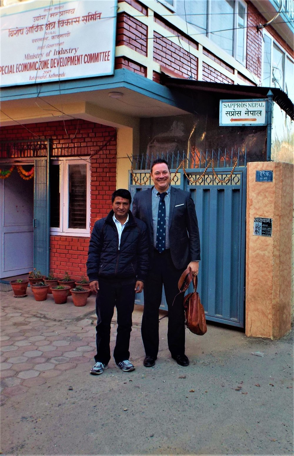 Locus Founder & CEO Jean-Paul Gauthier with Nepal's SEZ Authority Deputy Managing Director