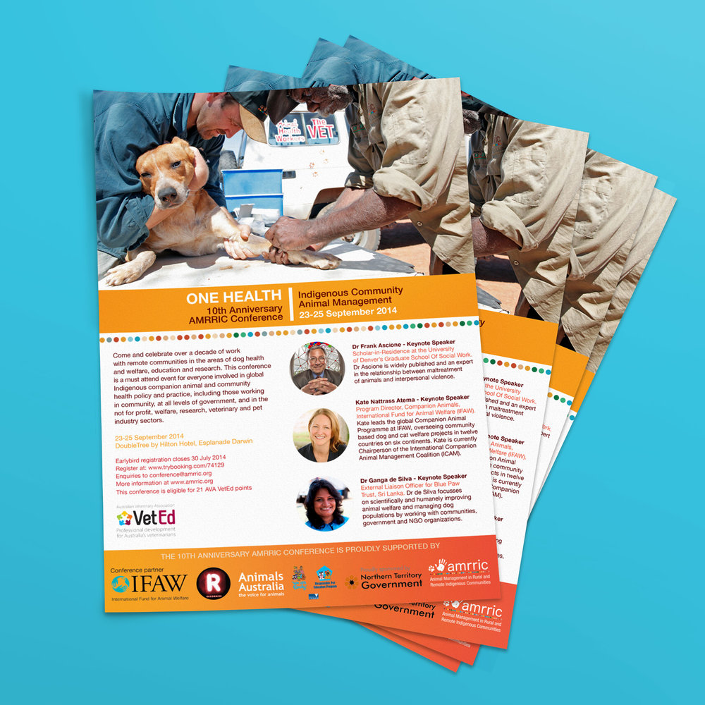 AMRRIC One Health 2014 Conference Collateral