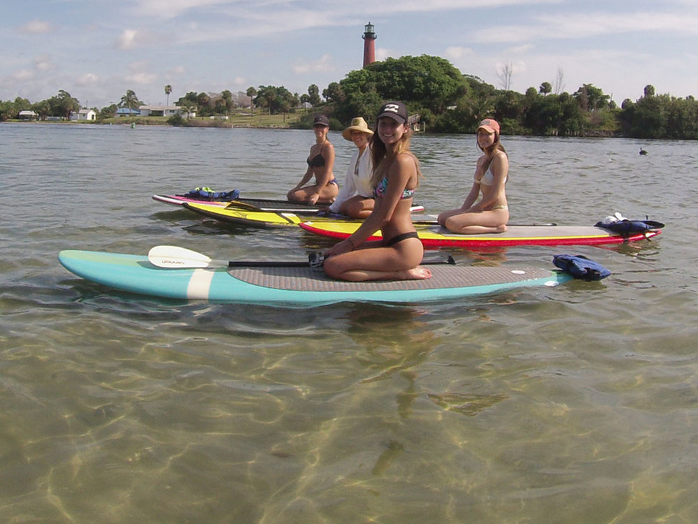 Paddling Under The Watchful Eye of the  Jupiter Lighthouse  -  Jupiter, FL
