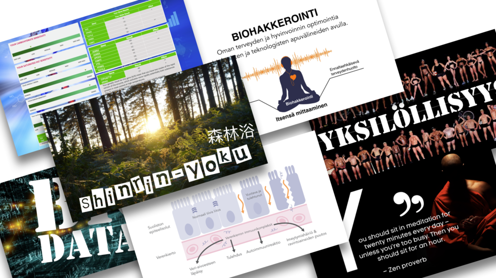 Lataa slaidit - >>https://www.slideshare.net/JaakkoHalmetoja/biohakkerointi-ravinto-on-teknologiaa