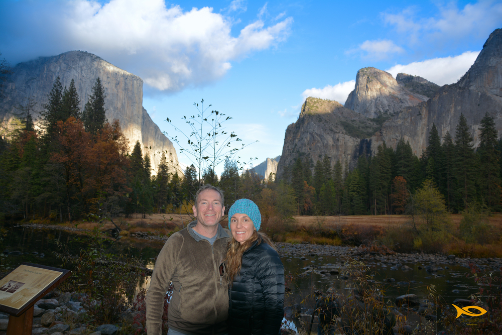 Kelly and I at one of the most iconic natural views in the world - the Yosemite Valley.