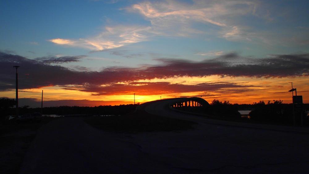 Goodland Bridge at Sunset.