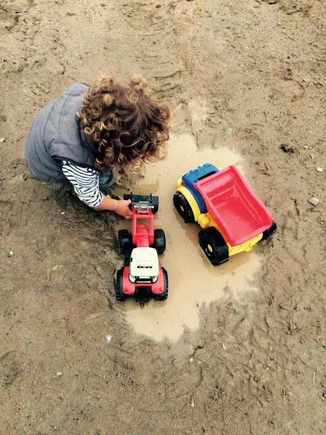 A boy and his mud puddle