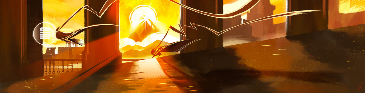 A painting I did to tribute one of the most amazing moments in Journey.   If you can guess what that shout symbol is…you win… NOTHING.   Because its about the journey not the destination.