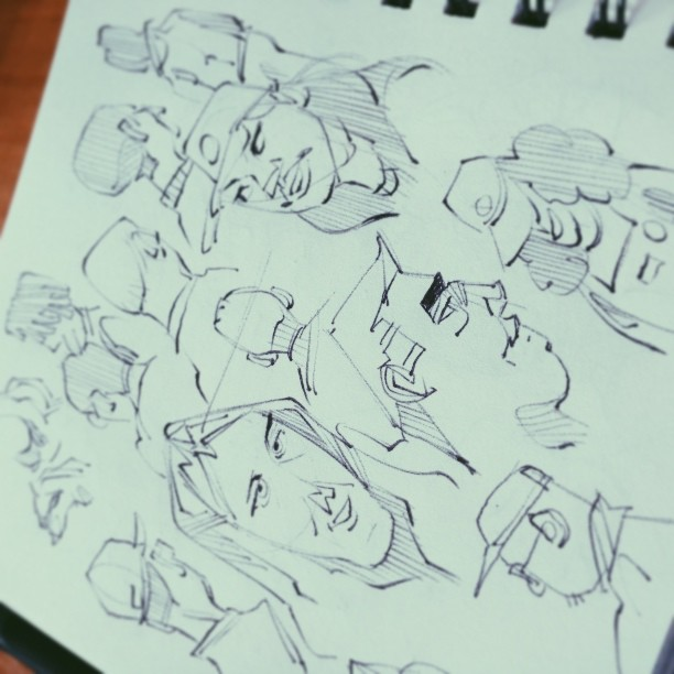 20 min quick sketch warm up #vscocam (at The Coffee Bean & Tea Leaf)