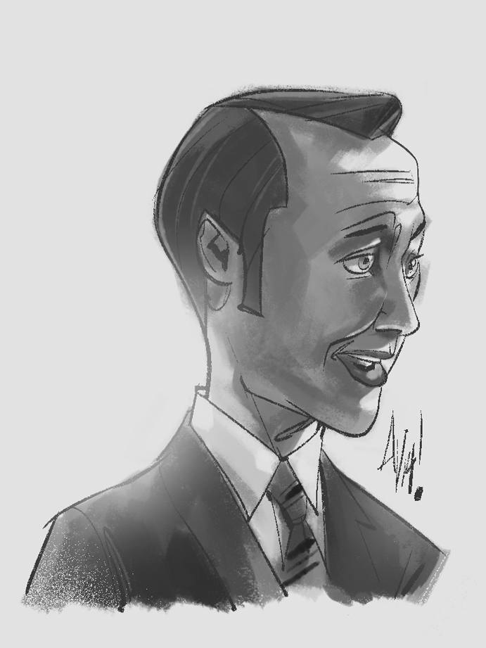 A quick sketch of Head of Accounts at SCDP, Pete Campbell. Wit dat Bron Bron hairline tho…