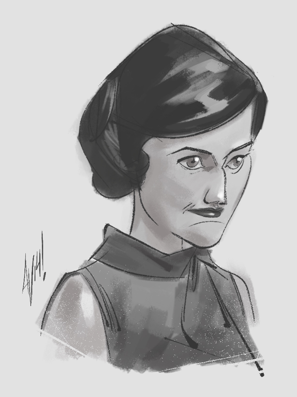 I did a quickie sketch of Copy Chief of SC&P, Peggy Olson.  The symbol of the modern working woman!