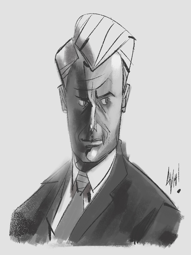Here's a quick sketch I did of Roger Sterling.