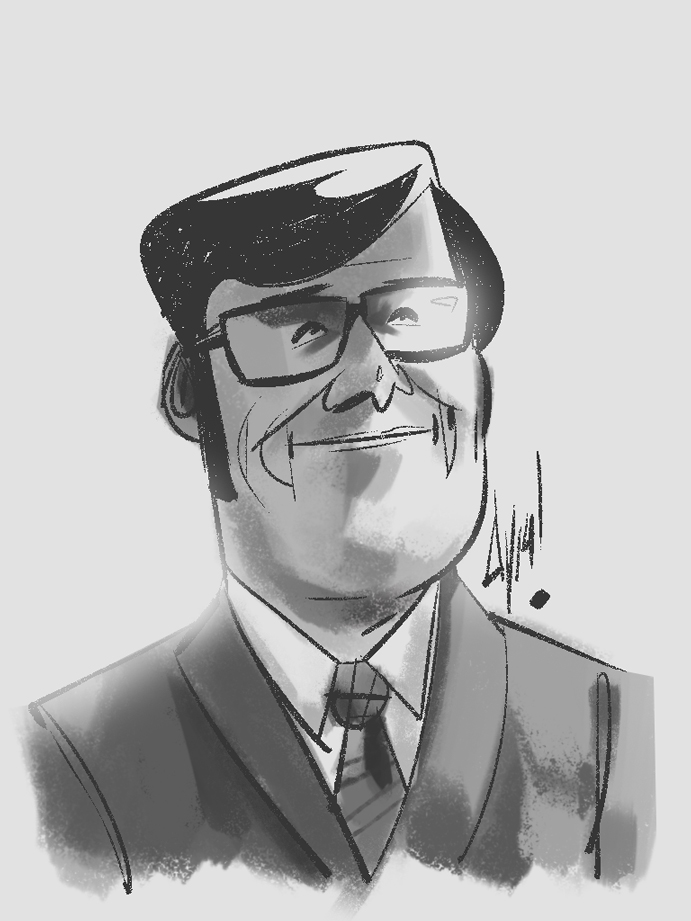 I did a sketch of Harry Crane, Head of TV for SCDP.