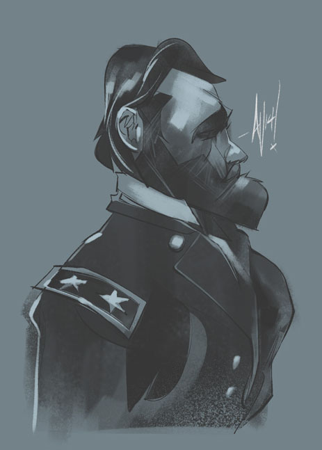Quick sketch I did of prez/genral Ulysses S. Grant