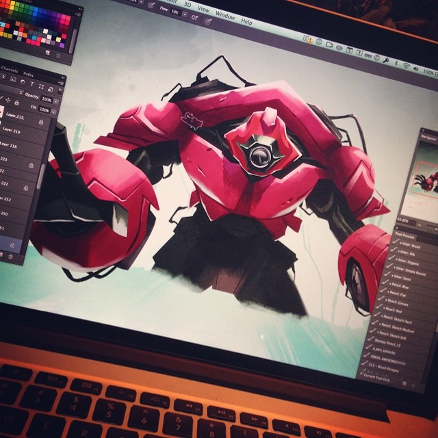Almost done part deux #mecha #beatsbyesta #robodude
