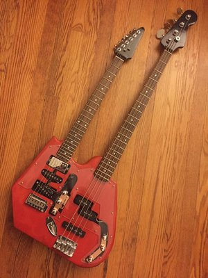 Double Neck Electric Bass and Guitar -