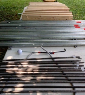 Tuned Galvanized Steel Chimes, 2