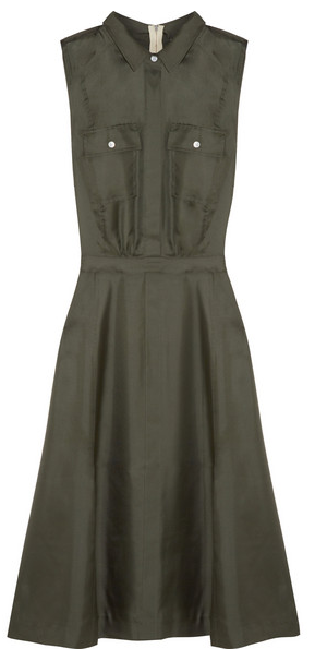 Band of Outsiders, Silk- satin Twill Dress, $675