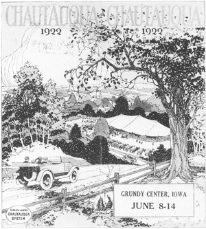 (Above)   Chautauqua Literary and Scientific Study Circles' traveling road show.   (Banner)    Septima Clark and Bernice Robinson organizing Citizenship Schools in South Carolina.   (Below)  Newspaper for the Midpeninsula free university.