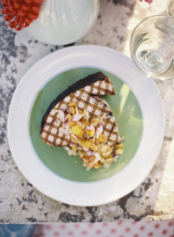 Fresh Grilled Swordfish, Mango Salsa
