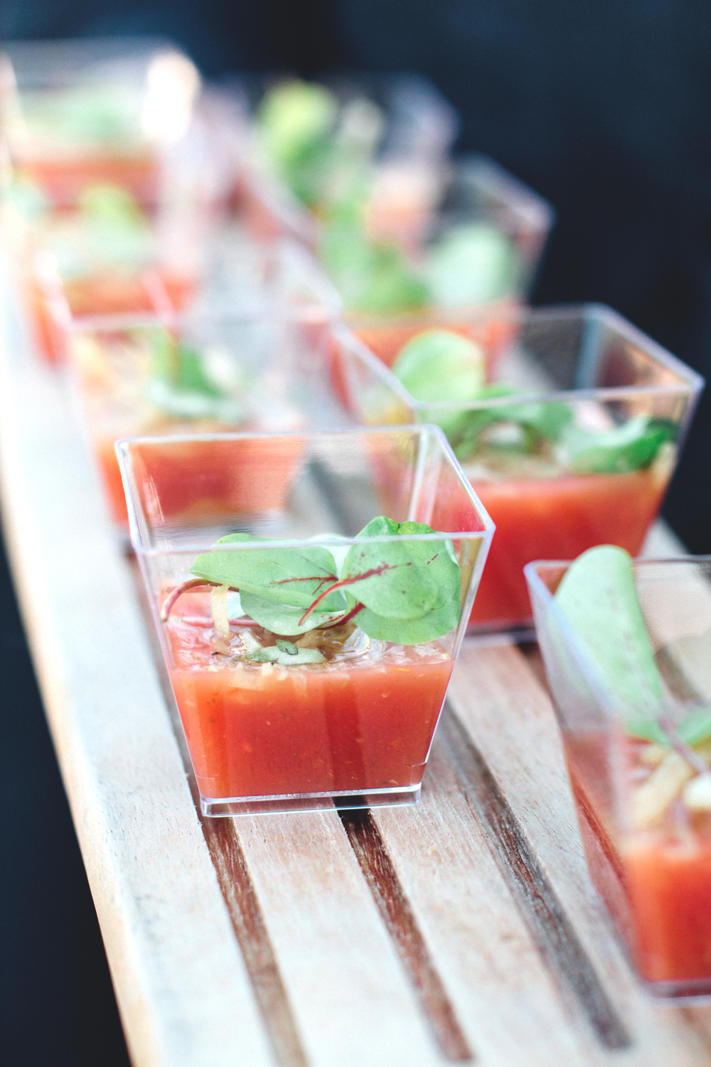 Chilled Tomato Gazpacho Shots