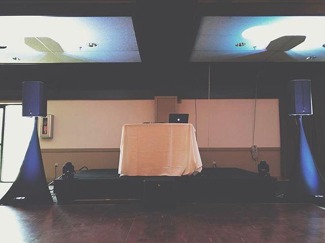 All ready for Lauren and Jody's wedding reception at @wintergreenresortva! What a wonderful day for a wedding ❤️ #charlottesvillewedding #harrisonburgweddings #roanokewedding stauntonwedding #weddingdj #weddinglighting #weddingreception