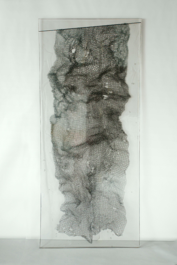 Chains in resin, 7' x 3'