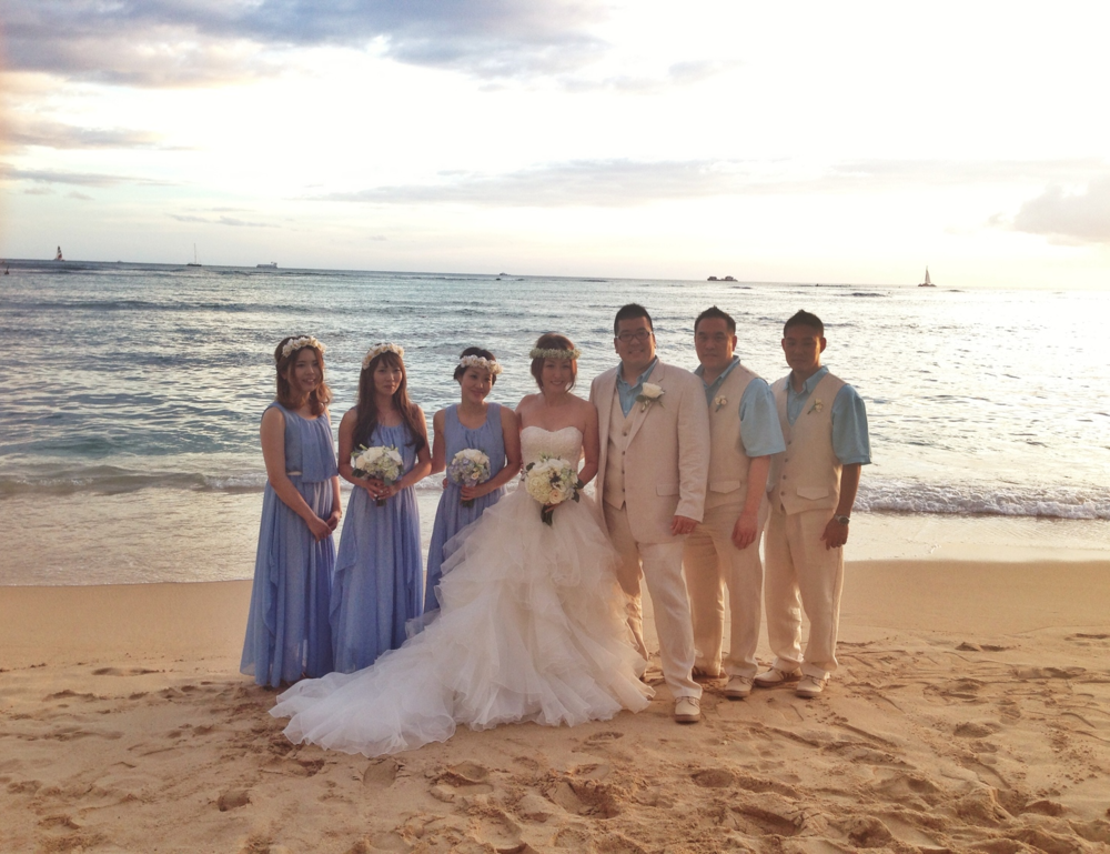 oahu-beach-wedding-waikiki-sunset