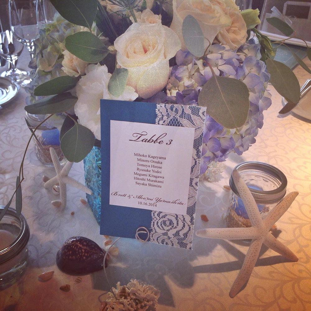 halekulani-wedding-reception-starfish-sea-blue-theme-decorations